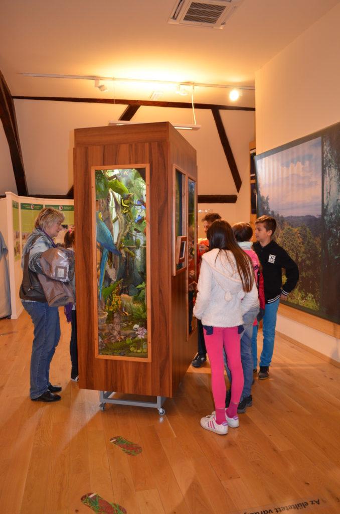 Diákcsoport a 3276 expedíciós nap, Balázs Dénes a múzeumalapító geográfus újraolvasva című kiállításon (múzeumi munkatárs felvétele)